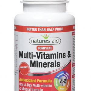 Natures Aid Complete Multi-Vitamins and Minerals, 90 Tablets