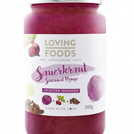 Loving Foods Organic Winter Warmer Beetroot Sauerkraut (500g) RAW